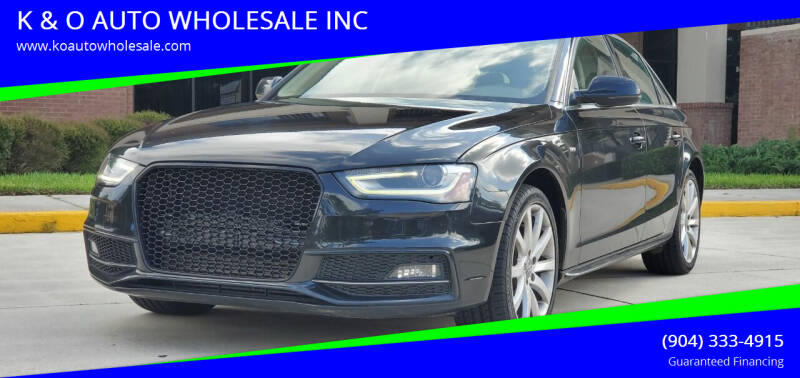 2014 Audi A4 for sale at K & O AUTO WHOLESALE INC in Jacksonville FL
