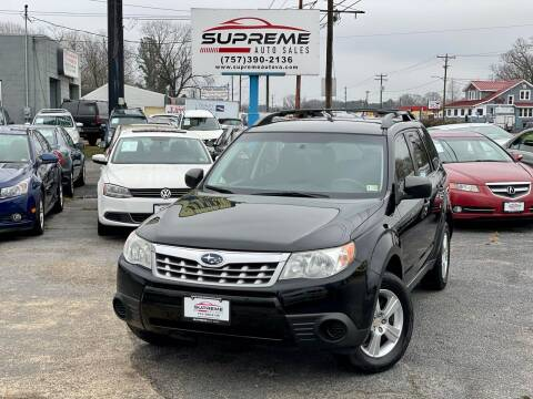 2012 Subaru Forester for sale at Supreme Auto Sales in Chesapeake VA