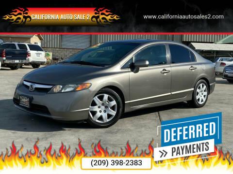 2008 Honda Civic for sale at CALIFORNIA AUTO SALE 2 in Livingston CA
