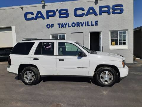 2003 Chevrolet TrailBlazer for sale at Caps Cars Of Taylorville in Taylorville IL