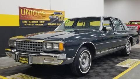 1982 Chevrolet Caprice for sale at UNIQUE SPECIALTY & CLASSICS in Mankato MN