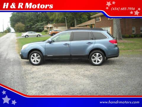 2013 Subaru Outback for sale at H & R Motors in Danville VA