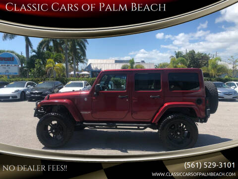 2012 Jeep Wrangler Unlimited for sale at Classic Cars of Palm Beach in Jupiter FL