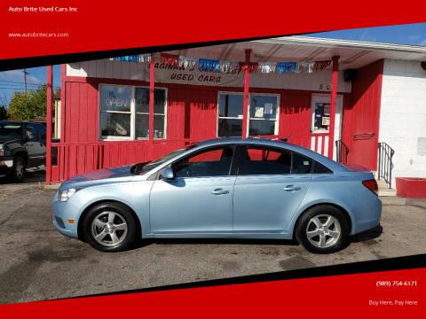 2012 Chevrolet Cruze for sale at Auto Brite Used Cars Inc in Saginaw MI