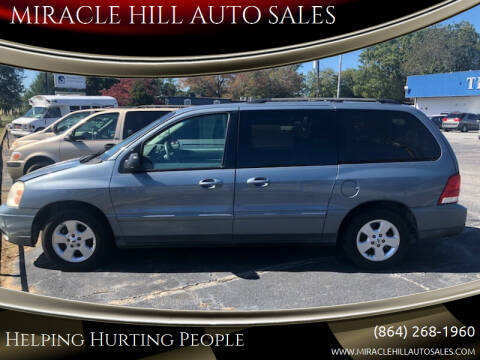 2004 Ford Freestar for sale at MIRACLE HILL AUTO SALES in Greenville SC