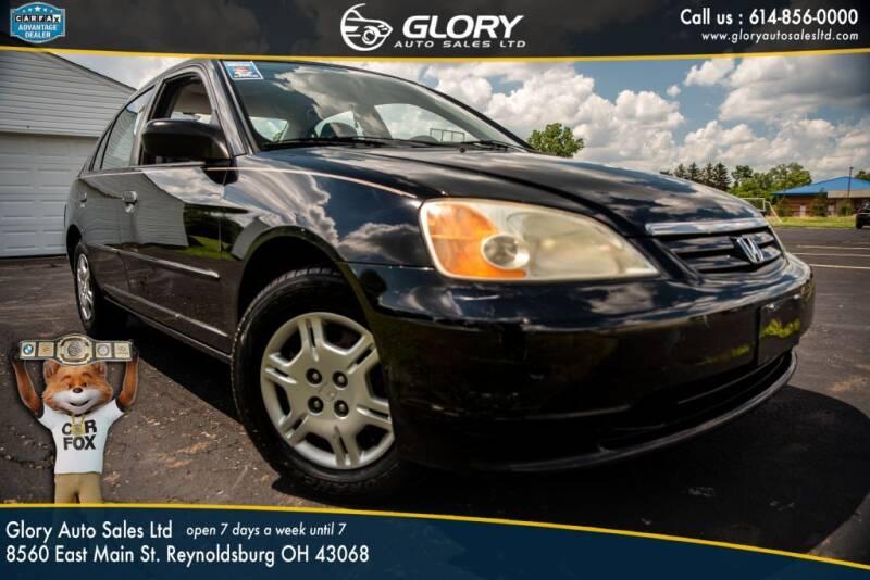 2001 Honda Civic for sale at Glory Auto Sales LTD in Reynoldsburg OH