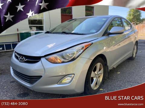 2012 Hyundai Elantra for sale at Blue Star Cars in Jamesburg NJ
