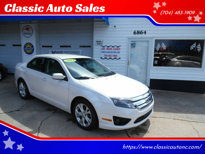 2012 Ford Fusion for sale at Classic Auto Sales in Maiden NC