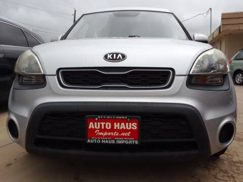 2012 Kia Soul for sale at Auto Haus Imports in Grand Prairie TX