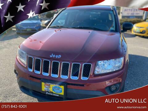 2012 Jeep Compass for sale at Auto Union LLC in Virginia Beach VA