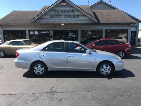 2003 Toyota Camry for sale at Clarks Auto Sales in Middletown OH