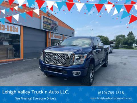 2016 Nissan Titan XD for sale at Lehigh Valley Truck n Auto LLC. in Schnecksville PA