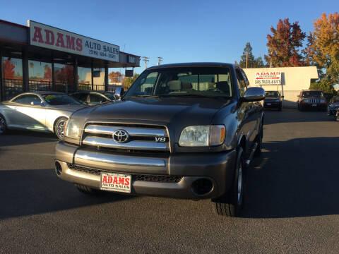 2003 Toyota Tundra for sale at Adams Auto Sales in Sacramento CA