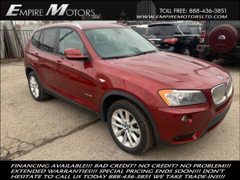 2013 BMW X3 for sale at Empire Motors LTD in Cleveland OH