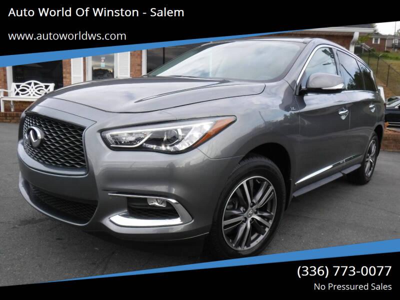 2018 Infiniti QX60 for sale at Auto World Of Winston - Salem in Winston Salem NC