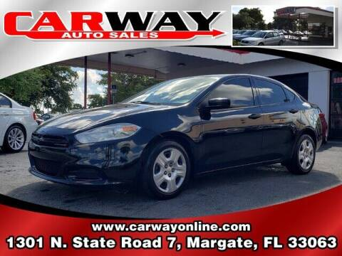 2013 Dodge Dart for sale at CARWAY Auto Sales in Margate FL