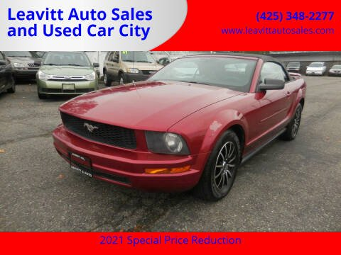 2005 Ford Mustang for sale at Leavitt Auto Sales and Used Car City in Everett WA