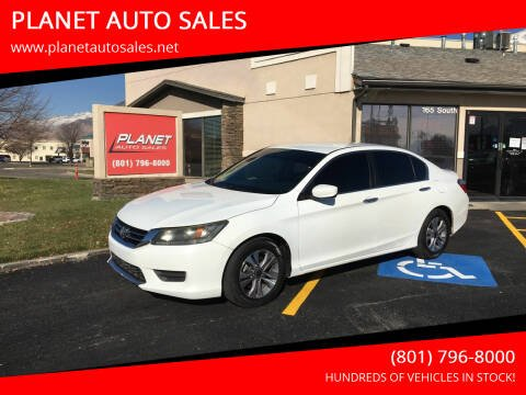 2014 Honda Accord for sale at PLANET AUTO SALES in Lindon UT