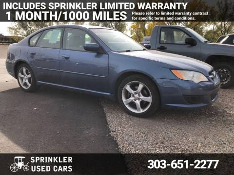 2009 Subaru Legacy for sale at Sprinkler Used Cars in Longmont CO
