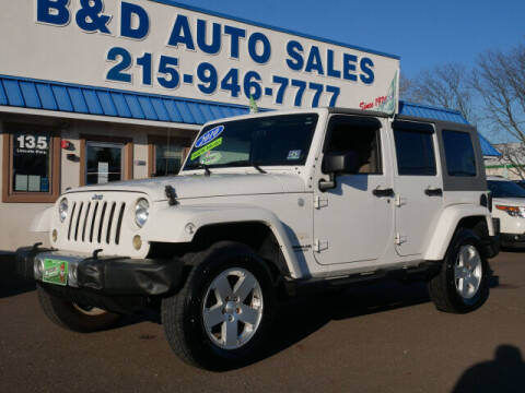 2010 Jeep Wrangler Unlimited for sale at B & D Auto Sales Inc. in Fairless Hills PA