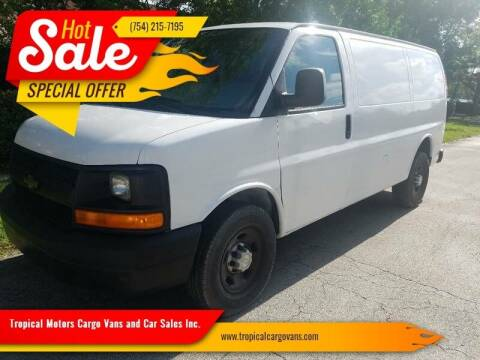 2014 Chevrolet Express Cargo for sale at Tropical Motors Cargo Vans and Car Sales Inc. in Pompano Beach FL