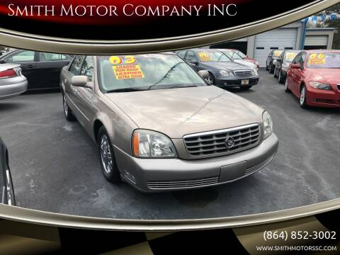 2003 Cadillac DeVille for sale at Smith Motor Company INC in Mc Cormick SC