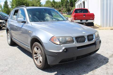 2005 BMW X3 for sale at UpCountry Motors in Taylors SC