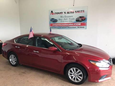 2016 Nissan Altima for sale at Antonio's Auto Sales in South Houston TX