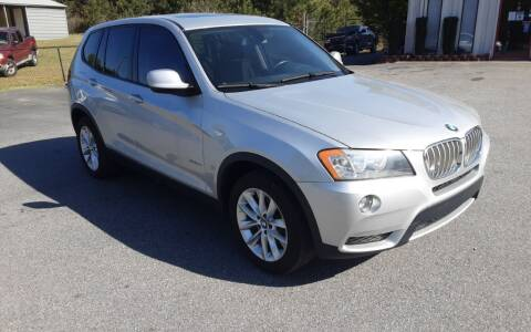 2013 BMW X3 for sale at Mathews Used Cars, Inc. in Crawford GA