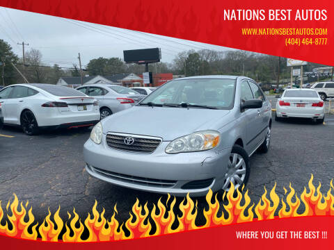2008 Toyota Corolla for sale at Nations Best Autos in Decatur GA
