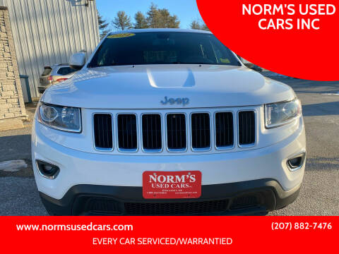 2014 Jeep Grand Cherokee for sale at NORM'S USED CARS INC in Wiscasset ME
