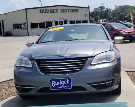 2013 Chrysler 200 for sale at Budget Motors in Aransas Pass TX