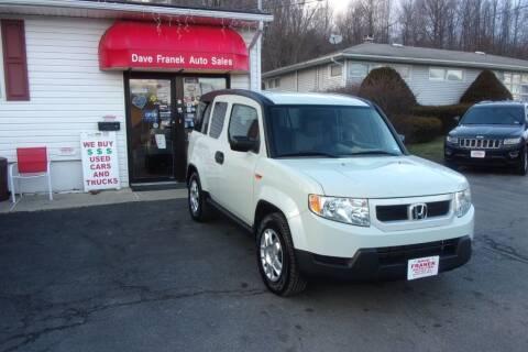 2009 Honda Element for sale at Dave Franek Automotive in Wantage NJ