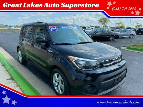 2018 Kia Soul for sale at Great Lakes Auto Superstore in Waterford Township MI