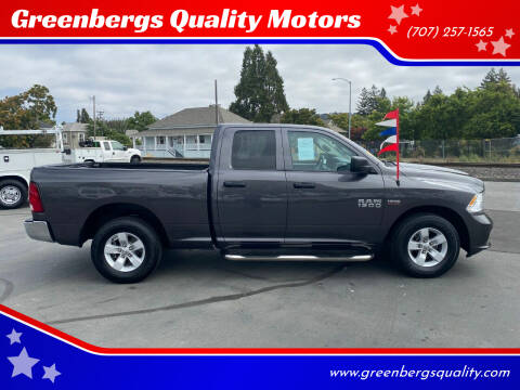 2016 RAM Ram Pickup 1500 for sale at Greenbergs Quality Motors in Napa CA