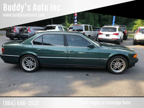 1997 BMW 7 Series for sale at Buddy's Auto Inc in Pendleton SC
