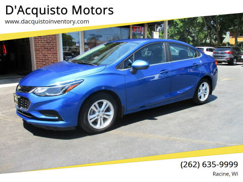 2017 Chevrolet Cruze for sale at D'Acquisto Motors in Racine WI
