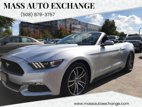 2015 Ford Mustang for sale at Mass Auto Exchange in Framingham MA