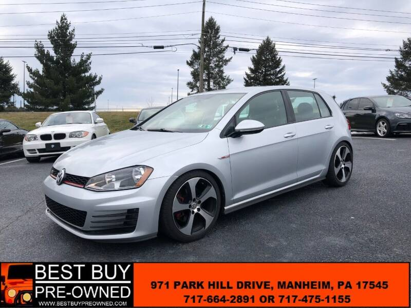 2016 Volkswagen Golf GTI for sale at Best Buy Pre-Owned in Manheim PA