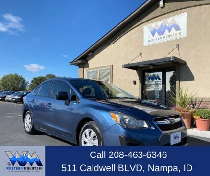 2013 Subaru Impreza for sale at Western Mountain Bus & Auto Sales in Nampa ID