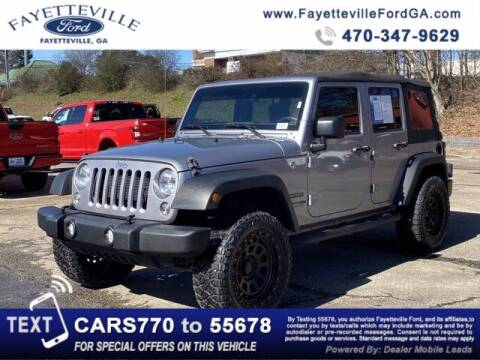 2018 Jeep Wrangler JK Unlimited for sale at FAYETTEVILLEFORDFLEETSALES.COM in Fayetteville GA