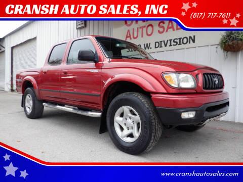 2003 Toyota Tacoma for sale at CRANSH AUTO SALES, INC in Arlington TX