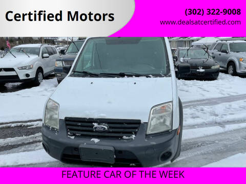 2012 Ford Transit Connect for sale at Certified Motors in Bear DE