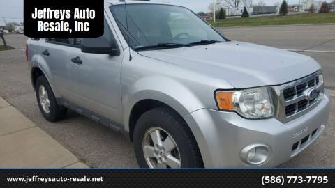 2010 Ford Escape for sale at Jeffreys Auto Resale, Inc in Clinton Township MI