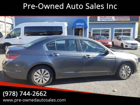 2010 Honda Accord for sale at Pre-Owned Auto Sales Inc in Salem MA