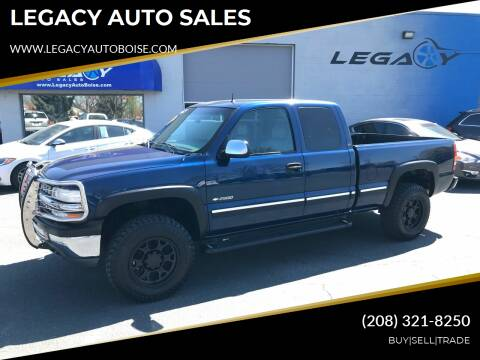 2002 Chevrolet Silverado 2500 for sale at LEGACY AUTO SALES in Boise ID