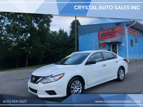 2016 Nissan Altima for sale at Crystal Auto Sales Inc in Nashville TN