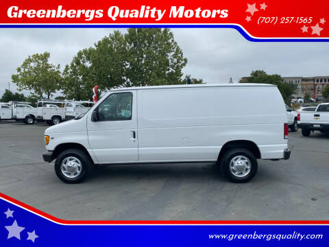 2001 Ford E-Series Cargo for sale at Greenbergs Quality Motors in Napa CA