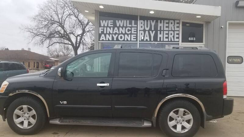 2005 Nissan Armada for sale at STERLING MOTORS in Watertown SD