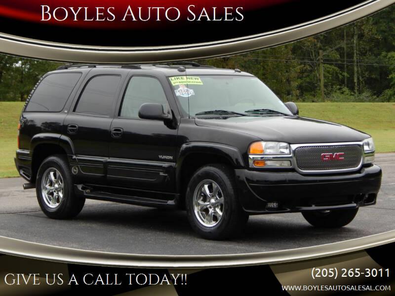 2005 GMC Yukon for sale at Boyles Auto Sales in Jasper AL
